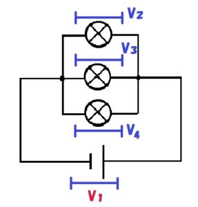 並列回路の電圧の公式