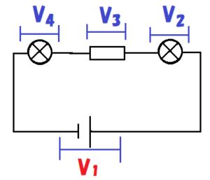 直列回路の電圧の公式