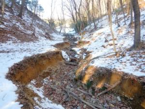 浸食された地形