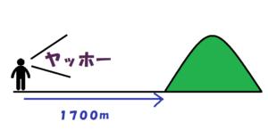 片道1700m