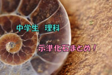 示準化石とは何か。一覧と覚え方を解説。