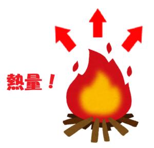 たき火の熱量