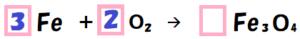 三酸化四鉄の化学反応式の係数3