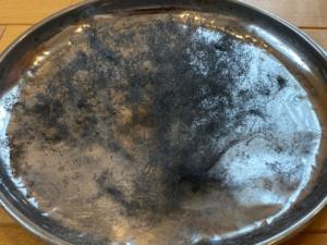 燃焼後のスチールウール