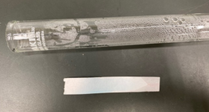 水が発生したことを塩化コバルト紙で確かめる