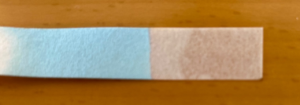 水につけた後の塩化コバルト紙