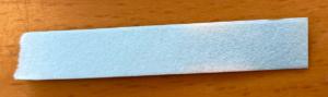 水に付ける前の塩化コバルト紙