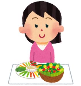 野菜を食べる人